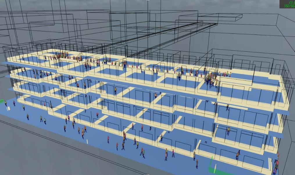 解析事例:避難シミュレーション